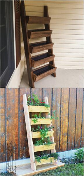 3-ladder-planter - diyncrafts.com