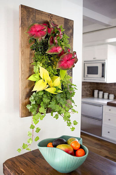 Framed vertical garden - growediblewalls.com