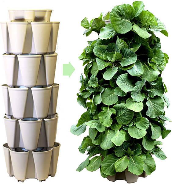 Freestanding vertical garden kit 4